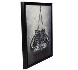 Toiles - Cadre 40X50 BOXING Noir/Blanc