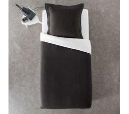 Housse de couette 140x200 + 1 GEMINI noir/blanc