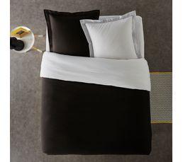Housse de couette 240x220 + 2 GEMINI noir/blanc