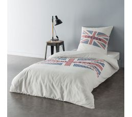 Linge De Lit - Housse de couette 140x200 + 1 LONDON CITY imprimé