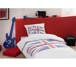 Linge De Lit - Housse de couette 240x220 + 2 LONDON CITY imprimé