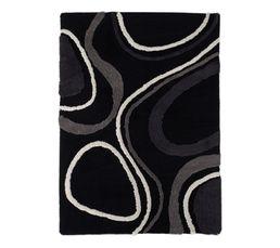 Tapis 120x170 cm VIBRATION noir/gris