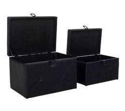 Set de 2 malles BOUDOIR Noir