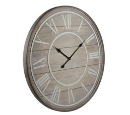 Horloge COTTAGE Naturel/Blanc