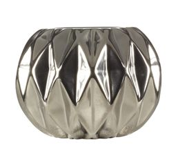 Bougeoirs Et Bougies - Photophore ORIGAMI Silver