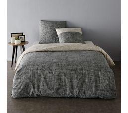 Linge De Lit - Housse de couette 240x220 + 2 ILLUSION gris