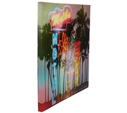 Toile LED 50X50 CALIFORNIA Multicolore