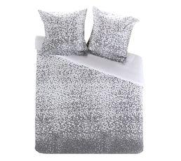 housse de couette 240x220 2 eden gris linge de lit but. Black Bedroom Furniture Sets. Home Design Ideas