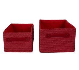 Panier - Set de 2 paniers COCOONS Rouge