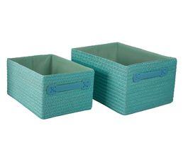 Set de 2 paniers COCOONS Bleu clair