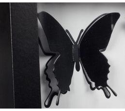 Tableau 30X30 PAPILLONS Noir