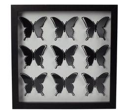 Photographies - Tableau 30X30 PAPILLONS Noir