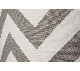 Pouf coffre GRAPHIC Blanc / gris