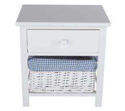 Chevet 1 tiroir island 2 blanc petits meubles but for Petit meuble tiroir blanc