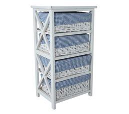 Meuble 4 tiroirs island 2 blanc petits meubles but for Petit meuble tiroir blanc