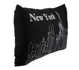 NY Coussin 30 x 50 cm Noir