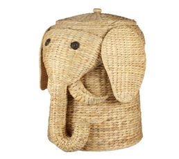Panier - Panier à linge éléphant JACINTHE Naturel