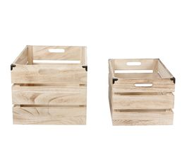 Panier - Set de 2 caisses DECORATION Naturel