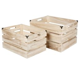 Set de 2 caisses DECORATION Naturel