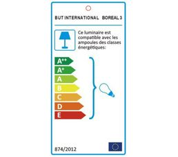 Suspension BOREAL 3 Blanc