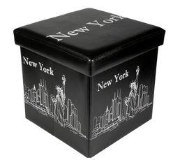 NY Pouf noir