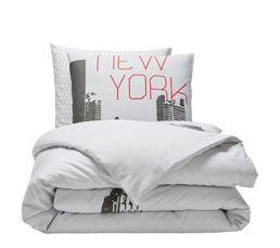 Housse de couette 240X220cm + 2 taies d'oreiller NEW YORK
