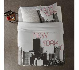 Housse de couette 240x220 + 2 NEW YORK imprimé