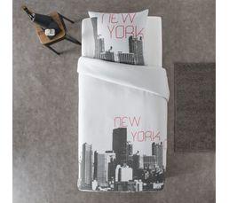 Housse de couette 140x200 + 1 NEW YORK imprimé