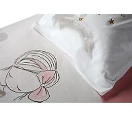Housse de couette enfant 140X200 cm + 1 taie d'oreiller JOLIS REVES