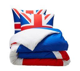 Linge De Lit - Housse de couette 240x220 + 2 UK FLAG imprimé