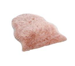 Tapis Pour Votre Salon - Tapis fausse fourrure 65x90 cm MILANO rose