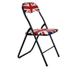 Chaise pliante FLAG Bleu/Rouge