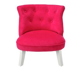 Fauteuil enfant crapaud rose petits meubles but - Fauteuil crapaud rose ...
