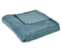 Plaid 125x150 cm TENDRESSE Bleu