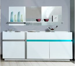 Buffets - Buffet LED LUMINA Blanc