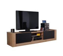 Meuble TV 2 portes coulissante NORDEN 15SW9838