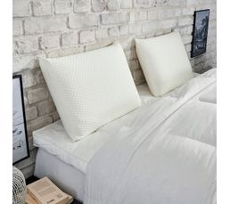 oreiller 40x60 cm dunlopillo visco reactif oreiller et traversin but. Black Bedroom Furniture Sets. Home Design Ideas
