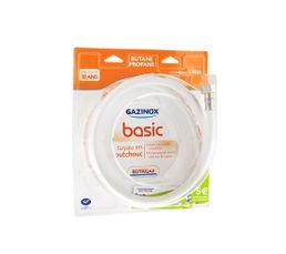 Tuyau de Gaz Butane Propane GAZINOX Basic BP 1,5m caoutchouc