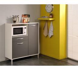 Combin optibox 803260 gris buffets et dessertes but for Eco cuisine verdun