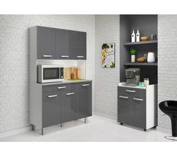 desserte pixel 803294 gris brillant buffets et dessertes but. Black Bedroom Furniture Sets. Home Design Ideas