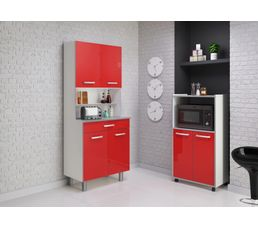 Desserte pixel 803298 rouge brillant buffets et for Eco cuisine verdun
