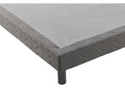 Sommier déco gris STRENAN 90x190 cm