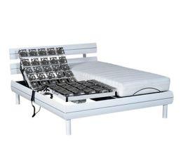 Literies Relaxation - Sommier laqué blanc 2x90x200 DREAMEA MORPHORELAX
