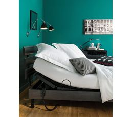 Literies Relaxation - Sommier gris cendré 2x80x200 DREAMEA MORPHORELAX
