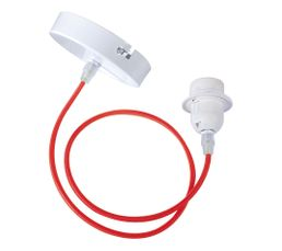 E27 60W Cordon électrique Rouge