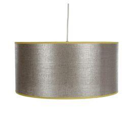 Suspension Lin métal Gris/jaune