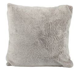 Coussin 45x45 cm BANQUISE taupe/gris