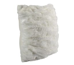 Coussin 40x40 cm GRIZZLI blanc