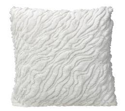 Coussin 40x40 cm PAILLETTES blanc
