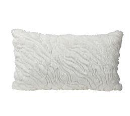 Coussin 30x50 cm PAILLETTES blanc